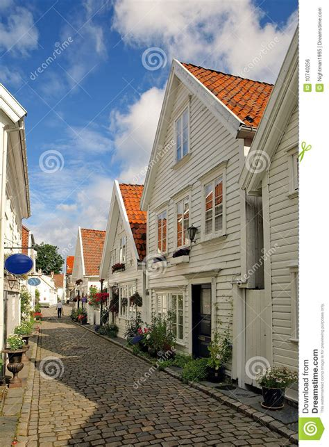 houses in norway old houses in stavanger norway stock photo image 10740256