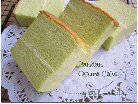 Ogura Pandan My Favourite Diy Pandan Ogura Cake 班兰相思蛋糕 Mff