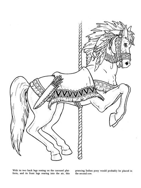 coloring pages of carousel animals carousel animals coloring book dover coloring books