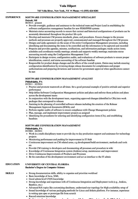 resume configuration manager resume high definition