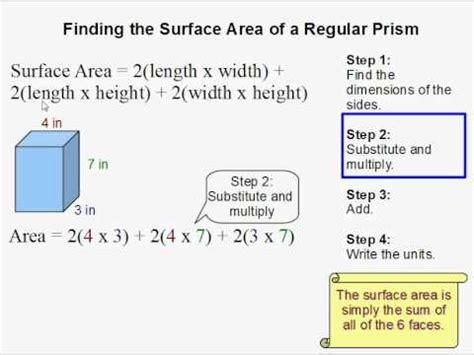 7 Steps To Finding The by How To Find The Surface Area Of A Rectangular Prism