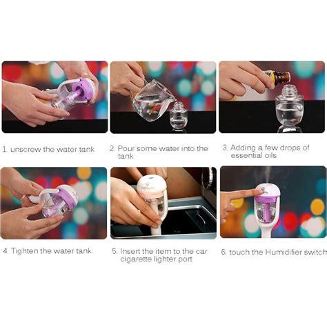 Aromaterapi Humidifier Mobil Dengan Charger Usb Green Diskon aromaterapi humidifier mobil dengan charger usb green
