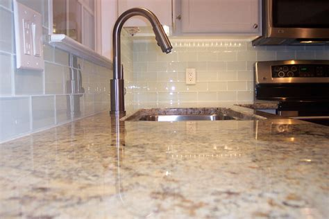 white glass subway tile kitchen backsplash spruce up a plain bathroom or kitchen backsplash with