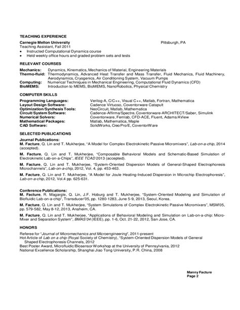 mechanical engineering resume format free sle mechanical engineering resume freshmen sophomores