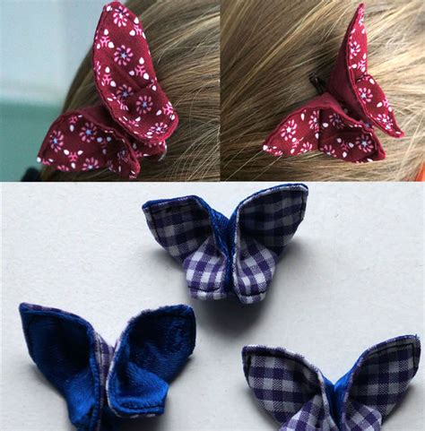 Origami With Fabric - butterfly hair origami with fabric