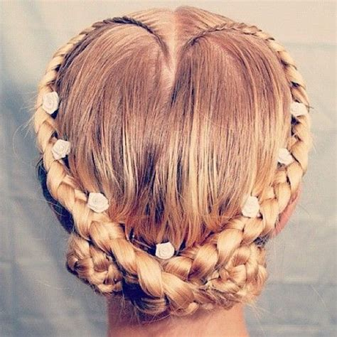 women s hairstyles love heart braid hairstyle for