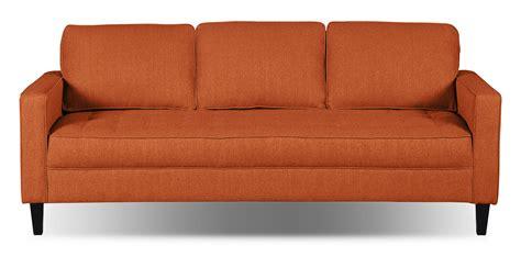 tangerine sofa paris linen look fabric sofa tangerine the brick