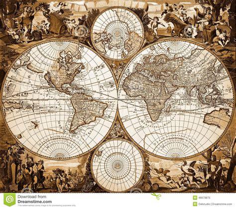 old vintage images carte du monde de vintage image 233 ditorial image 46679875