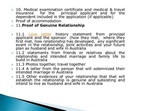 Relationship Proof Letter For Visa Checklist For Fiance Visa In Australia