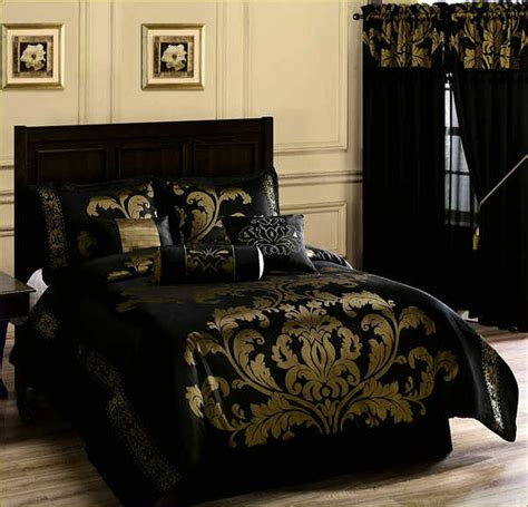Gold And Black Bedding Sets by Black And Gold Comforter Sets King Home Design
