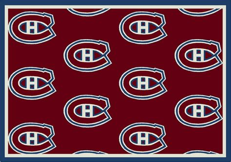 Area Rugs Montreal Montreal Canadians Repeat Logo Area Rug
