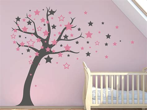 Wandtattoo Baum Babyzimmer by Wandtattoo Baum Mit Sternen Wandtattoos De