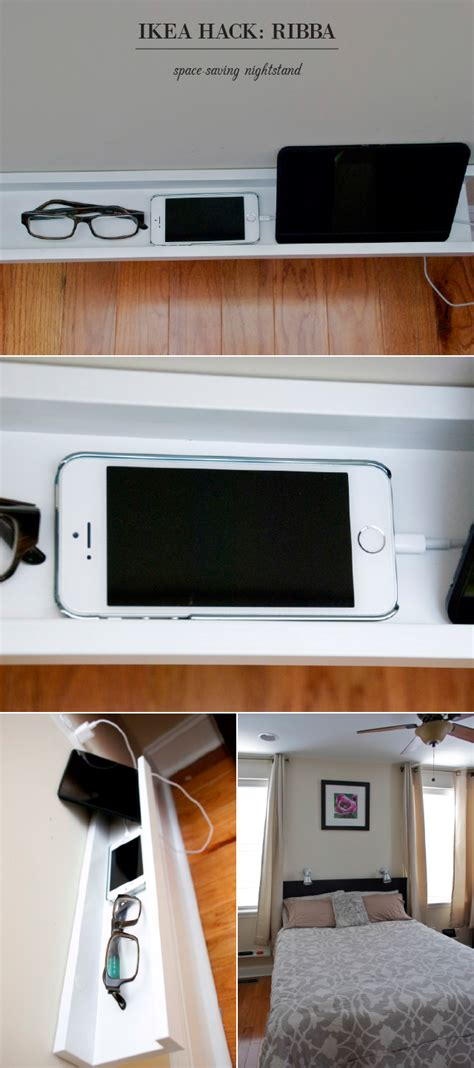 ikea nightstand charging station ikea hacks to simplify your morning routine