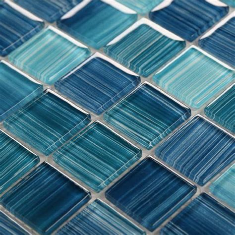 blue tile floor bathroom glass mosaic ktchen backsplash tile bathroom wall floor