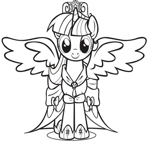 Coloriages 224 Imprimer My Little Pony Et Equestria Girls My Pony Coloring Pages Twilight Sparkle With Wings