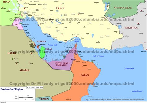 mideast gulf map middle east maps the gulf 2000 project sipa columbia