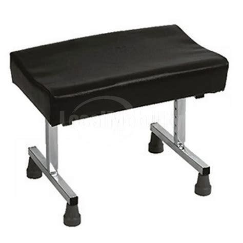 adjustable ottoman black vinyl footstool height angle adjustable local