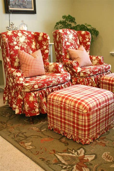 Wingback Loveseat Sofa Custom Slipcovers By Shelley Sasha S Front Room