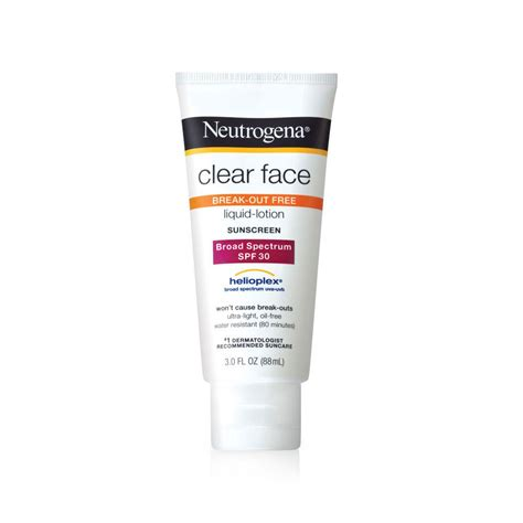 best lotion for acne neutrogena clear liquid lotion sunscreen