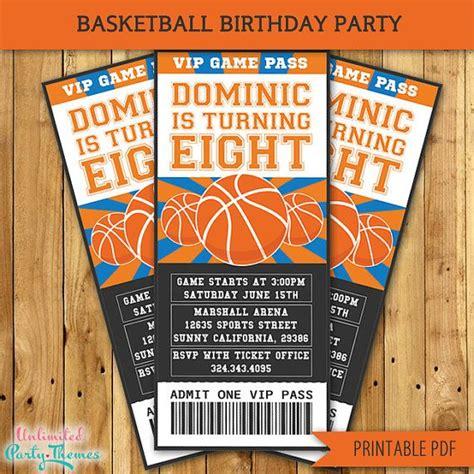 free printable basketball birthday decorations printable basketball birthday party invitations