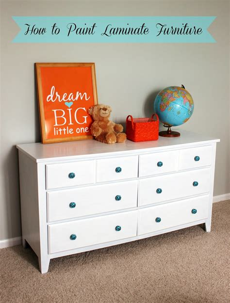 painting a laminate desk old dresser makeover how to paint laminate furniture