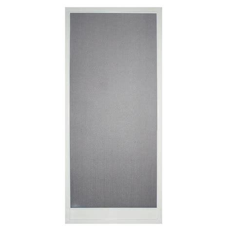 odl 36 in x 80 in brisa white standard retractable
