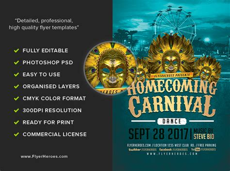 Homecoming Dance Flyer Template