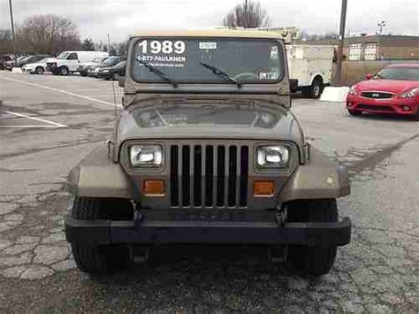 1989 Jeep Wrangler Automatic Transmission Purchase Used 1989 Jeep Wrangler 4 2 6 Cylinder 5
