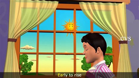 early to bed early to rise makes a man early to bed early to rise 3d animation english nursery rhymes for children youtube