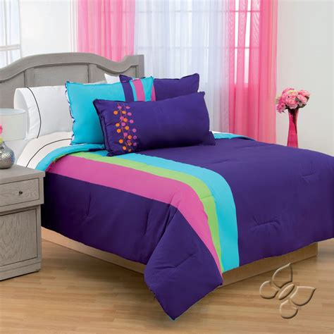 blue and purple bedding purple blue comforter bedding set
