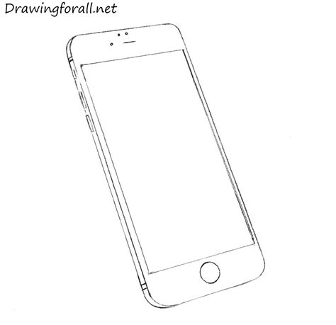 How To Draw An Iphone Drawingforall Net Iphone 7 Coloring Pages