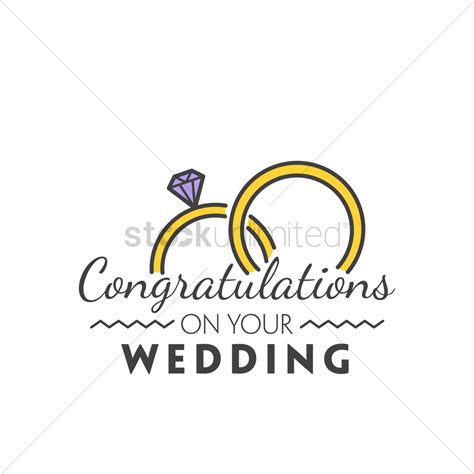 Wedding Congratulations On by Congratulations On Your Wedding Vector Image 1791227