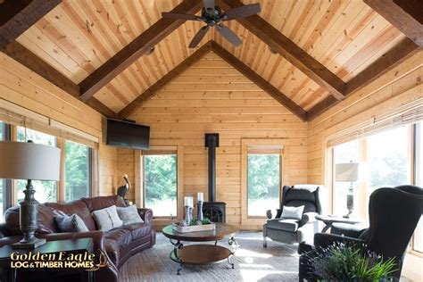 golden eagle log and timber homes exposed beam timber