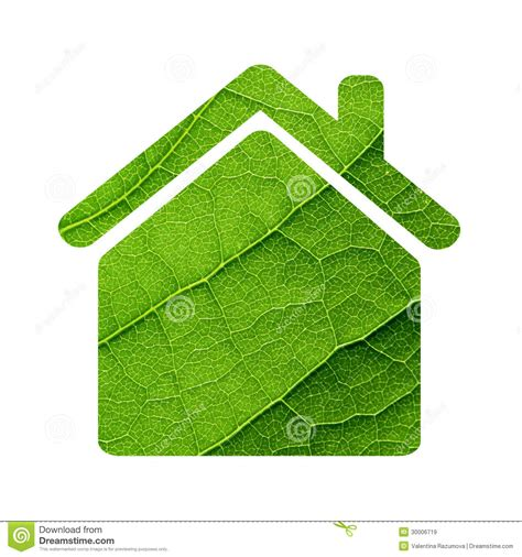 leaf house green leaf house icon stock image image of environment 30006719