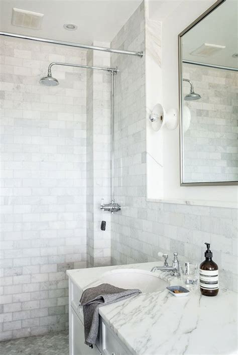 Low Maintenance Shower Tile by 29 White Marble Bathroom Tile Ideas And Pictures