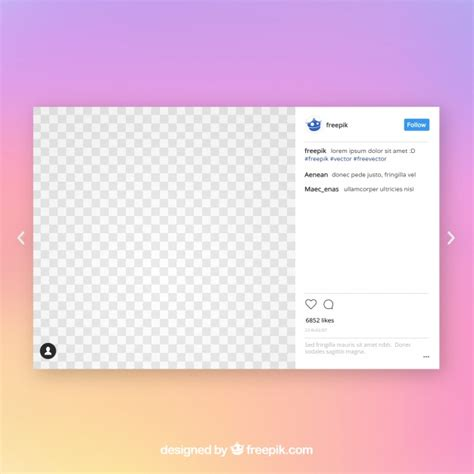 layout instagram desktop instagram post template vector free download