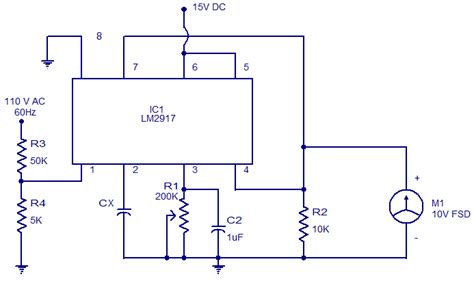 digital capacitor meter circuit diagram capacitance meter using lm2917 electronic circuits and diagrams electronic projects and design