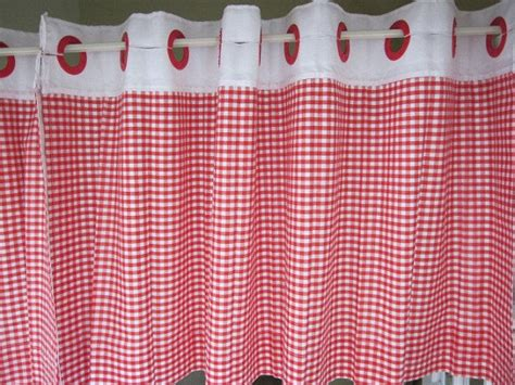 red and white check curtains reserved for dolly 2 vintage red and white check lined cafe