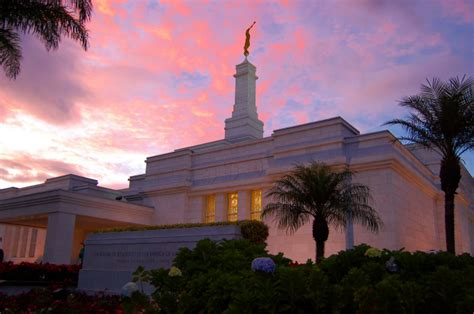san jose costa rica temple  sunset