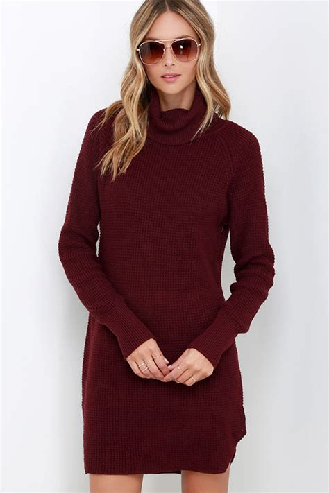 burgundy knit dress burgundy knit dress sweater dress turtleneck