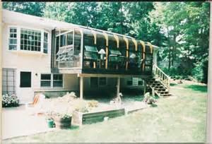how to build a sunroom on a deck brady built sunroom curved eave deck brady built