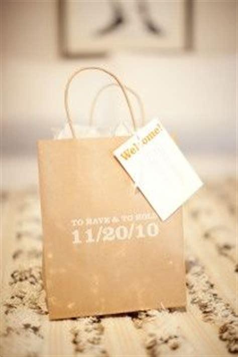 hotel  bags ideas  pinterest wedding