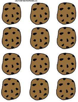 Chocolate Chip Cooke Printable Template Printable Cookie Template