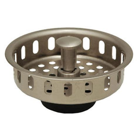 satin nickel kitchen sink drain basket strainer stopper