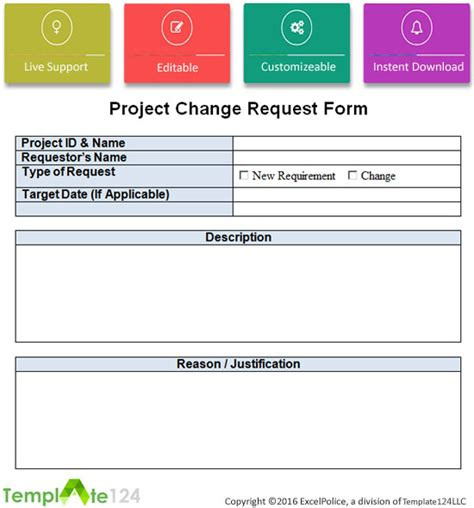 change request template project change request template excel word template124