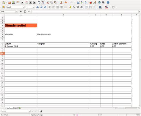 Kostenlose Vorlage Arbeitszeit Stundenzettel Vordruck Vorlage Zum Excel Word Pdf