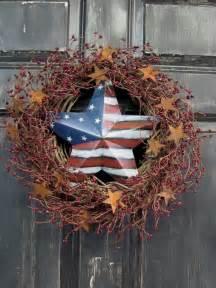 Home Decor Wholesalers Canada Items Similar To Primitive Americana Wreath Americana Home Decor Patriotic Pip