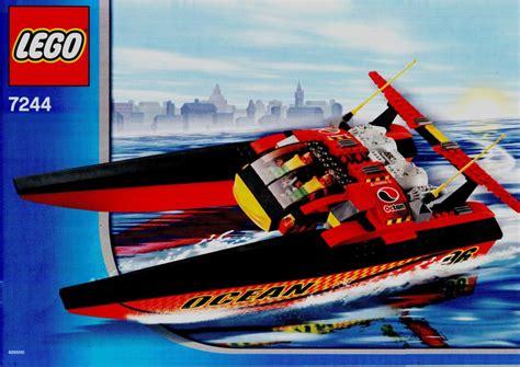 speedboat lego lego speedboat instructions 7244 city