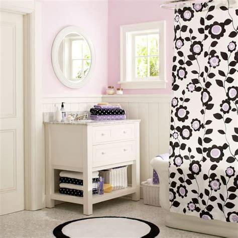 tween bathroom ideas nouveau floral shower curtain pbteen