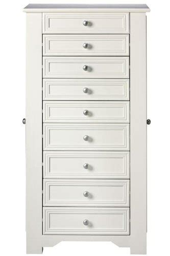 8 drawer jewelry armoire oxford jewelry armoire 8 drawer white jewelry armoires on sale